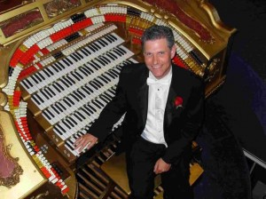 Martin Ellis, at the console of the great Sanfilippo organ in Chicago